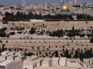 The walls of Jerusalem from the Mount of Olives