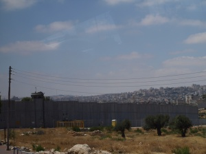The wall around the West Bank near Bethlehem