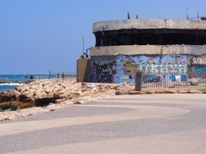 Graffiti on the July 1, 2001 Suicide Bombing Memorial, Tel Aviv