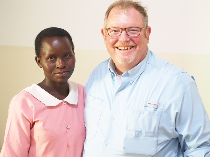 The clinic nurse in Piswa, Uganda